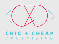 Chic + Cheap Organizing Concept