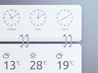 World Time Widget - PSD please?