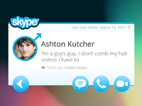 Skype Widget - Profile view