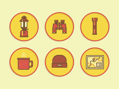 Vector Scouts Merit Badge Icons