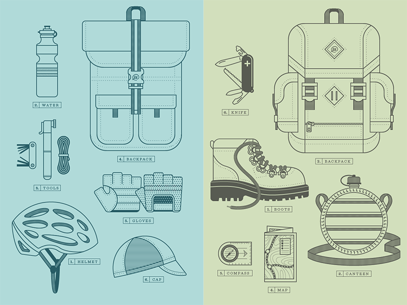 Packed Bike & Packed Hike by Ryan Putnam