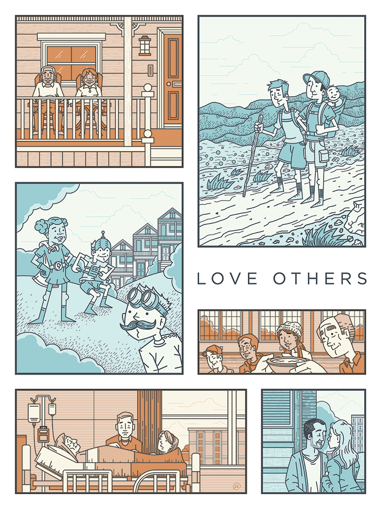 Love Others Print av Ryan Putnam