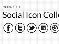 Metro Style Social Icon Collection