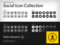 Metro Style Social Icon Collection Ready!