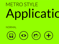 Metro Style UI Application Icons