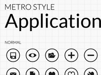 Metro Application Icons Collection