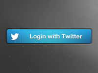 Twitter Connect Button (PSD)