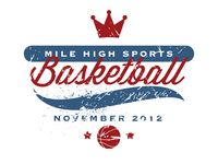 Mile High Sports Basketball Badge