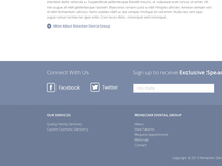 Dental Social/Signup Footer