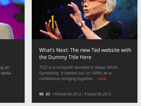 TED.com Redesign - talk preview block