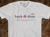 hack-@-thon t-shirt design - front