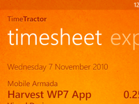 TimeTractor - Harvest app for WP7