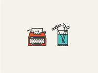 Typewriter & Shears