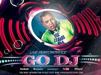 PSD Go Dj Flyer Template