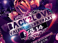 Valentines Day Flyer -PSD-