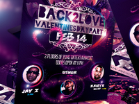 Psd Valentines Day Party Flyer Template