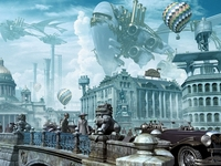 Sank-Petersburg in style, steam-punk