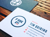 P'unk Ave Business Card