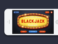 Blackjack iOS Game - Main Menu