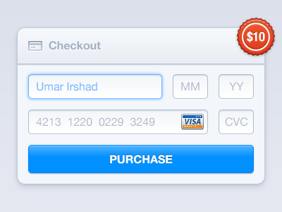 Download Checkout Form PSD