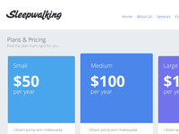 Sleepwalking Pricing Page
