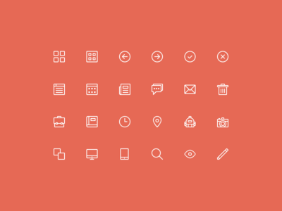 Download 24 Free Skinny Icons