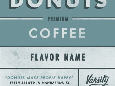 Varsity Donuts Coffee Label