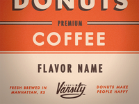 Varsity Coffee Label 2