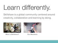 Skillshare Homepage videos