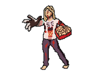 Valentine's Day Zombie in 16-bit