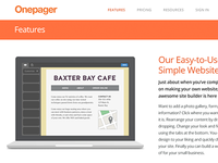 Onepager Features