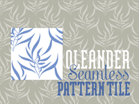 Oleander Damask Seamless Pattern Tile