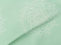 Seaglass Chrysanthemum Fabric Pattern
