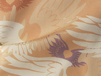 Heartwings II: Apricot & Lavender Fabric Design