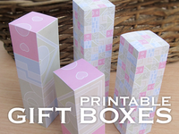 Printable Gift Box Templates