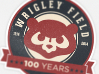 Wrigley Field 100th Anniversary Badge