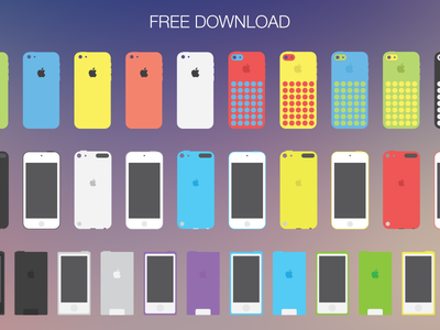 Download Apple flat devices (EPS and PSD)
