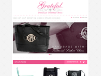 Grateful Bags Homepage Design