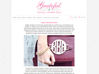 Grateful Bags Website Subpage Design