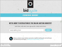 Bidcycle Coming Soon Page