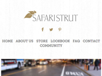 Safari Strut Mobile Header