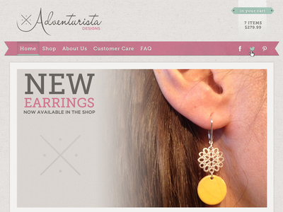 Adventurista Header Design