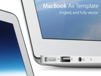 Vector MacBook Air Template
