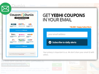 Newsletter Subscription Popover