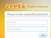 Guardian's dashboard password
