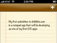 iOS notepad app