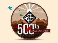 500th Follower Badge