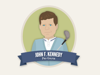 John F. Kennedy As a Pro Golfer