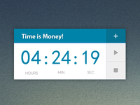 Time is money Widget