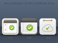 the evolution of the ListBook icon